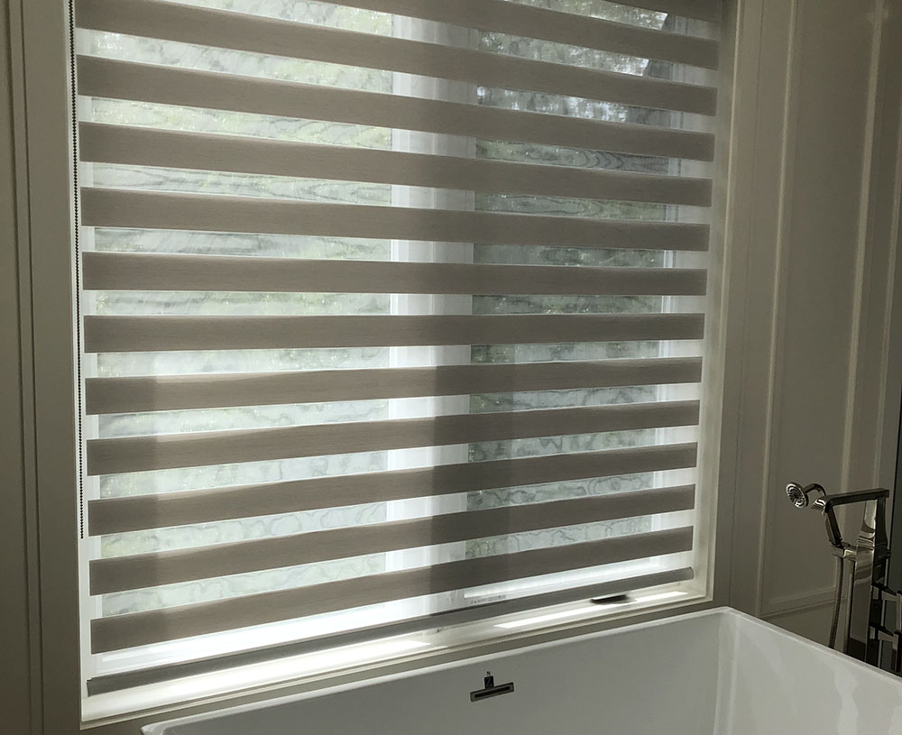 Picture of zebra blinds in Toronto